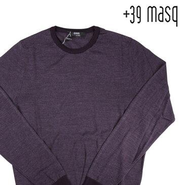 【XXL】 +39 masq マスク 丸首セーター メンズ 秋冬 シルク混 パープル 紫 並行輸入品 メンズファッション 男性用 ビジネス ニット 大きいサイズ 日本未入荷 ラッピング無料 送料無料