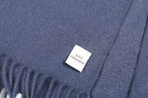COLOMBOcolomboマフラーメンズ秋冬カシミヤ100%ネイビー紺並行輸入品メンズファッション男性用ビジネス日本未入荷ラッピング無料送料無料