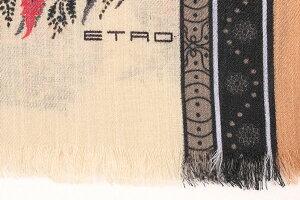 ETRO(エトロ)ストール10660ベージュxマルチカラーONESIZE【A25233】