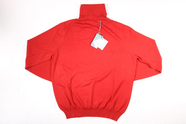 【50】 malo マーロ タートルネックセーター メンズ 秋冬 カシミヤ100% レッド 赤 並行輸入品 メンズファッション 男性用 ビジネス ニット 日本未入荷 ラッピング無料