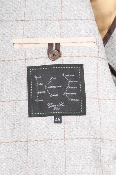 【46】 GEAN LUC ジーンリューク ジャケット メンズ 秋冬 グレー 灰色 並行輸入品 メンズファッション 男性用 ビジネス アウター トップス 日本未入荷 ラッピング無料