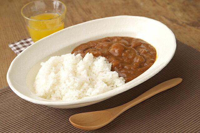 楕円 カレー皿 プレーンアイボリー粉引調カレー皿 オーバルカレー皿/陶器/深め/パスタ皿/日本製