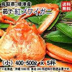 鳥取県 境港産 【 紅ズワイガニ 】(小 400-500gx5杯) 浜茹で直送 送料無料 宇和海の幸問屋
