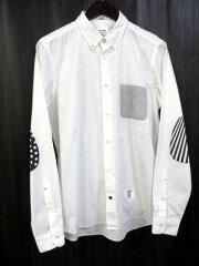 【BEDWIN/ベドウィン】 ボタンダウン ブロードコットン プリント シャツ 2 白 メンズ 【ベクト...