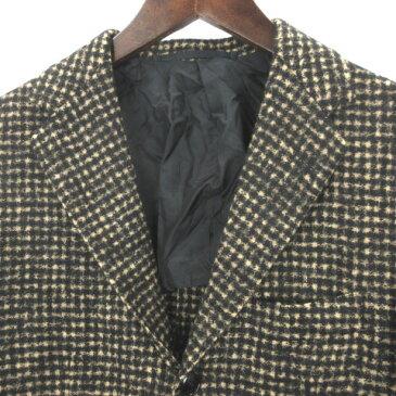 【中古】MP di Massimo Piombo エムピーディマッシモピオンボ チェック テーラードジャケット アルパカ 背抜き 46 ベージュ 上着 IBS77 メンズ 【ベクトル 古着】 201016 ベクトルプレミアム店