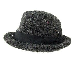 【CA4LA/カシラ】 日本製 ウール モヘア リボン テープ ハット 帽子 グレイ R メンズ/レディース/ユニセックス 【ベクトル 古着】【中古】 150706