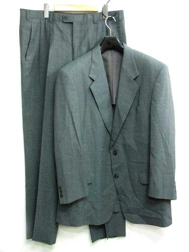 ランバン LANVIN スーツ セットアップ 上下 シングル 2B 半裏 ブルーグレー 灰系 ST52-57 メンズ ...