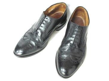 アレンエドモンズ Allen Edmonds Chester ドレスシューズ ウィングチップ ビジネスシューズ 革靴 旧ロゴ 1903 ブラック 黒 9 0803 メンズ 【中古】【ベクトル 古着】 180803 ブランド古着ベクトルプレミアム店