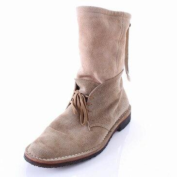 ミハラヤスヒロ MIHARA YASUHIRO ブーツ スエード ミドル 27cm  ベージュ メンズ 【ベクトル 古着】【中古】