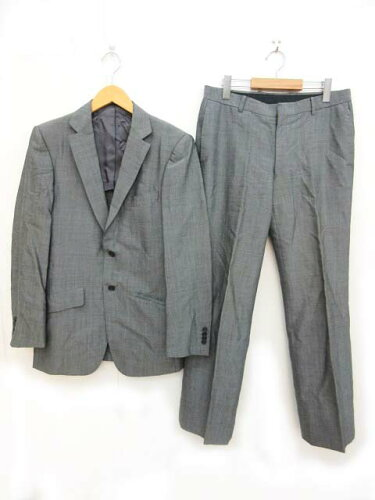 リングヂャケット RING JACKET スーツ ビジネス シングル 2B 半裏 ノータック グレー 46 JJJ 0613 ...