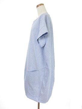 オズモーシス osmosis ワンピース ひざ丈 半袖 ONE 青 ブルー /tk レディース 【中古】【ベクトル 古着】 180514 ブランド古着ベクトルプレミアム店