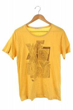 ヌーディージーンズ nudie jeans Tシャツ カットソー ロゴ 半袖 S 黄 /DF メンズ 【中古】【ベクトル 古着】 171101 ブランド古着ベクトルプレミアム店