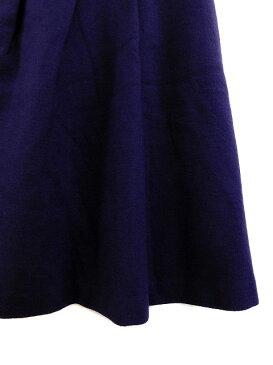ロペ ROPE スカート 台形 タック ウール ミニ 7 紫 パープル レディース 【中古】【ベクトル 古着】 181228 ブランド古着ベクトルプレミアム店