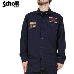 【決算セール 大特価】【ワークシャツ】【長袖シャツ】【Schott ショット】【smtb-MS】【送料無...