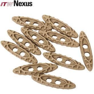 現在被向20%OFF◆ITW NEXUS Tac-Toggle 10個安排TAN ITW NEXUS米特種部隊開發的這個新型輕量有耐水性,忍受超過90度的溫度的工程塑料製造ITW NEXUS ITW NEXUS mss WIP人
