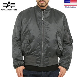【alpha industries/アルファ インダストリーズ】正規品 MADE IN U.S.A MA-1フライトジャケット R.GRAY
