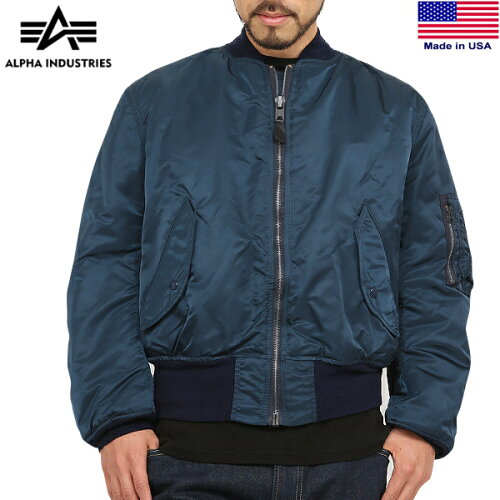 10%OFFクーポン対象◆MA-1 ALPHA INDUSTRIES アルファインダストリーズ MADE IN U.S.A GROUND CRE...