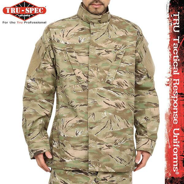 【あす楽】サバゲー 服 TRU-SPEC トゥルースペック 米軍 Tactical Response Uniform ジャケット All Terrain Tiger Strip [1262] タイガーストライプ模様 カモフラ 【クーポン対象外】 WIP メンズ ミリタリー アウトドア キャッシュレス 5%還元 春 夏