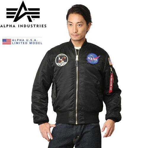 クーポンで今だけ10%OFF◆ALPHA アルファ USA 日本未発売 NASA APOLLO MA-1 フライトジャケット B...