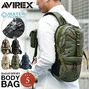 AVIREX アヴィレックス EAGLE ミリタリー キャンバス ボディバッグ AVX305 6139111 ポーチ (クーポン対象...