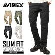 AVIREX アビレックス FATIGUE PANTS ファティーグ カーゴパンツ スリムフィット 6166122 メンズ ミリタリー 軍パン カモフラ mss WIP