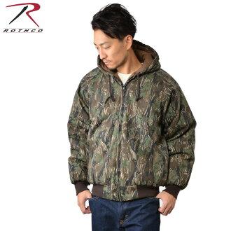 ROTHCO rothco 絕緣的絕緣的連帽外套連帽的外套 7583 男裝軍事外護套擊球夾克重重量大衣夾克假下來夾克冬秋冬季迷彩偽裝