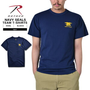 ROTHCO ロスコ 60030 NAVY SEALs チームTシャツ ミリタリー トップス インナー Tシャツ 半袖 アメリカ特殊部隊 NAVY SEALs エンブレムマーク OFFICIAL NAVY SEALS TEAM WIP メンズ ミリタリー アウトドア ミリタリーシャツ 敬老の日