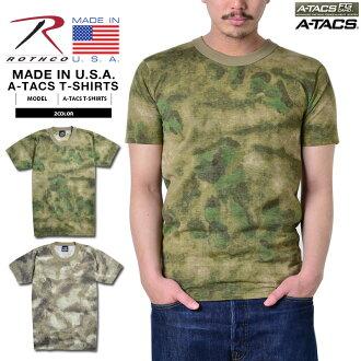 ROTHCO洛杉磯共MADE IN U.S.A. 供A-TACS CAMO訓練使用的T恤短袖圓領人軍事頂端內部T恤印刷T僞裝色僞裝僞裝A-TACS CAMO訓練T MADE IN U.S.A. 美國製造mss WIP