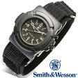 【クーポン対象外】 Smith & Wesson スミス&ウェッソン LAWMAN WATCH 腕時計 BLACK SWW-11B-GLOW 旅行 レジャー 帰省