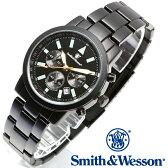 【クーポン対象外】 Smith & Wesson スミス&ウェッソン PILOT WATCH 腕時計 CHRONOGRAPH BLACK SWW-169 旅行 レジャー 帰省