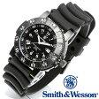 【クーポン対象外】 Smith & Wesson スミス&ウェッソン SWISS TRITIUM 357 SERIES DIVER WATCH 腕時計 RUBBER BLACK SWW-357-R 旅行 レジャー 帰省
