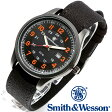 【クーポン対象外】 Smith & Wesson スミス&ウェッソン CADET WATCH 腕時計 BLACK/ORANGE SWW-369-OR 父の日 ギフト プレゼント
