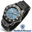 【クーポン対象外】 Smith & Wesson スミス&ウェッソン 455 POLICE WATCH 腕時計 BLUE/BLACK SWW-455P 父の日 ギフト プレゼント