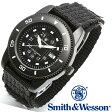 【クーポン対象外】 Smith & Wesson スミス&ウェッソン COMMANDO WATCH 腕時計 BLACK SWW-5982 父の日 ギフト プレゼント