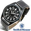 【クーポン対象外】 Smith & Wesson スミス&ウェッソン CIVILIAN WATCH 腕時計 BLACK SWW-6063 旅行 レジャー 帰省