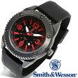 【クーポン対象外】 Smith & Wesson スミス&ウェッソン KNIVES WATCH 腕時計 BLACK/RED SWW-693-BK 旅行 レジャー 帰省