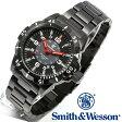 【クーポン対象外】 Smith & Wesson スミス&ウェッソン EMISSARY WATCH 腕時計 BLACK SWISS TRITIUM SWW-88-B 旅行 レジャー 帰省