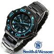 【クーポン対象外】 Smith & Wesson スミス&ウェッソン SWISS TRITIUM DIVER WATCH 腕時計 BLACK/BLUE SWW-900-BLU 旅行 レジャー 帰省