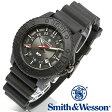 【クーポン対象外】 Smith & Wesson スミス&ウェッソン SWISS TRITIUM M&P WATCH 腕時計 BLACK/BLACK SWW-MP18-BLK 旅行 レジャー 帰省