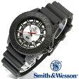 【クーポン対象外】 Smith & Wesson スミス&ウェッソン SWISS TRITIUM M&P WATCH 腕時計 BLACK/SILVER SWW-MP18-GRY 旅行 レジャー 帰省