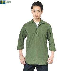 15%OFFクーポン配布中!実物 USED スウェーデン軍 M-55プルオーバーシャツ グリーン WIP メンズ ミリタリー ミリタリーシャツ キャッシュレス 5%還元 新生活応援 衣替え【Sx】 春