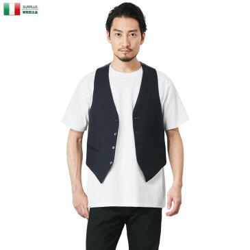 店内20%OFF◆ミリタリーシャツ ミリタリー ベスト イタリア デッドストック ジレ 実物 新品 キャッシュレス 5%還元