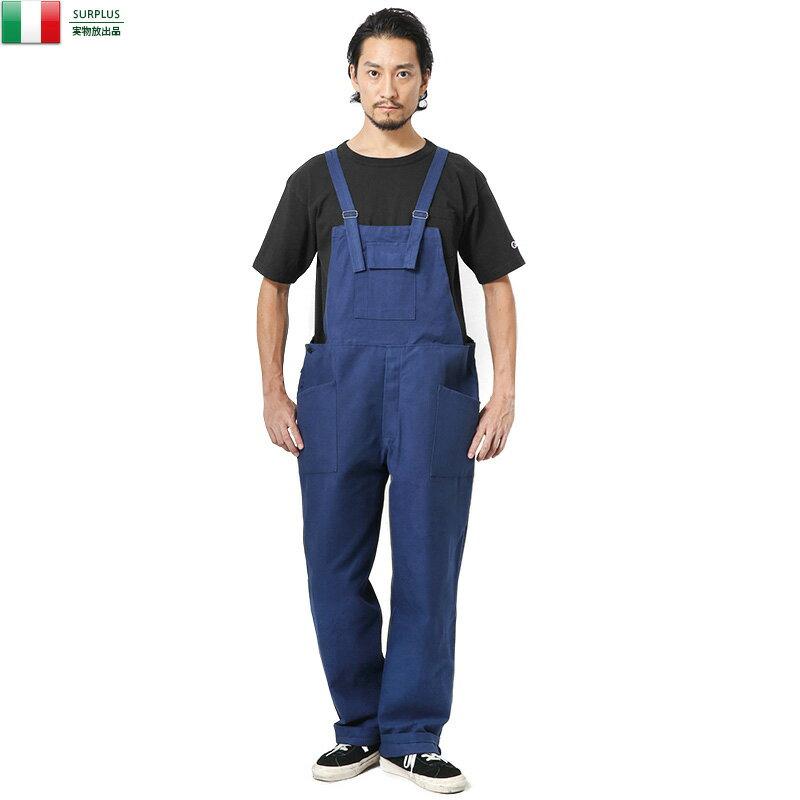 実物 新品 イタリア軍 モールスキン サロペット 軍物 軍放出品 サスペンダー デッドストック カジュアル WIP メンズ ミリタリー #italymolskin 新生活応援 衣替え【Sx】