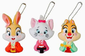 雛人形 ディズニー 東京ディズニーリゾート 雛祭り ミスバニー、マリー、クラリスのひな人形姿のぬいぐるみバッチセット