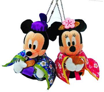 雛人形 ディズニー 東京ディズニーリゾート 雛祭り2013 ミッキー、ミニーのひな人形姿のペアぬいぐるみバッチ