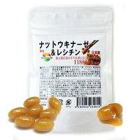 熟生ナットウキナーゼ&レシチン大容量6カ月分180粒送料無料納豆キナーゼ納豆菌サプリメント納豆菌培養エキス末納豆末合わせて1袋に11880mg配合