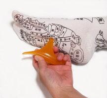 足全体のツボが「見える」プリントソックス【オカリナ型カッサ付き】【オカリナ型カッサ付き】足裏つぼおしソックス足ツボ靴下反射区サイズ22〜26センチ
