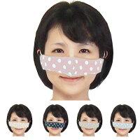 鼻マスク安心の日本製ダブルガーゼ使用でとても快適鼻マスク水玉模様の可愛いマスク喫煙飲食もできちゃうマスクの進化はとまらないメール便発送