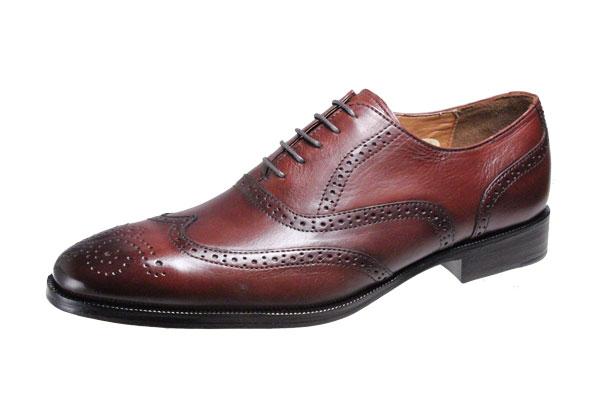 メンズシューズウイングチップ内羽根ベルガモ紳士靴革底マッケイ製法ビジネスシューズ2873ダークブラウン:紳士靴専門店BOOM