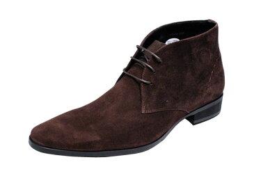 トラサルディメンズチャッカーブーツTRUSSARDI紳士靴チャカーブーツ13079ダークブラウンスエード